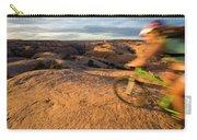 Woman Mountain Biking, Moab, Utah Carry-all Pouch