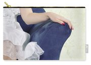 Woman On Chair Carry-all Pouch by Joana Kruse
