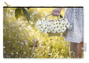 Woman Picking Flowers In A Wild Flower Meadow Carry-all Pouch