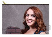 Woman Red Hair Carry-all Pouch