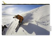 Woman Skiing At Sunset, Chile Carry-all Pouch