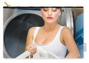 Woman Washing Clothes Carry-all Pouch