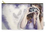 Woman With Camera. Love In A Still Frame Capture Carry-all Pouch