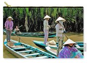 Women Waiting For Passengers On Mekong River Canal-vietnam Carry-all Pouch