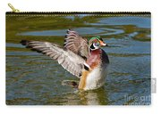 Wood Duck Drake Flapping Wings Carry-all Pouch
