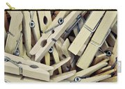 Wooden Clothes Pegs Carry-all Pouch