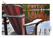 Wooden Dock On Autumn Lake Carry-all Pouch by Elena Elisseeva