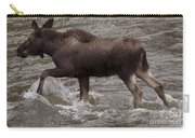 Yearling Moose In The Shoshone River   #1289 Carry-all Pouch