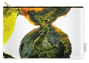 Yellow And Gray Interactions 8 Carry-all Pouch by Amy Vangsgard