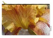 Yellow And Maroon Iris Carry-all Pouch