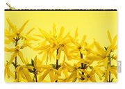 Yellow Forsythia Flowers Carry-all Pouch