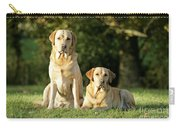 Yellow Labrador Retrievers Carry-all Pouch