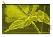Yellow Negative Wood Flower Carry-all Pouch
