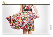 Young Beautiful Dancer Posing On White Background Carry-all Pouch