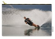 Young Man Waterskiing On Lake Koocanusa Carry-all Pouch