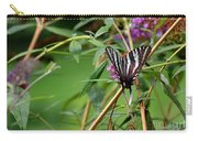 Zebra Swallowtail Butterfly At Butterfly Bush Carry-all Pouch