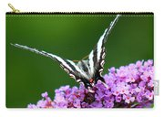 Zebra Swallowtail Butterfly Square Carry-all Pouch