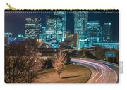 Charlotte City Skyline Night Scene Carry-all Pouch