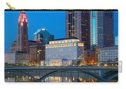 Fx2l-516 Columbus Ohio Night Skyline Photo Carry-all Pouch