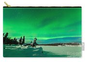 Intense Display Of Northern Lights Aurora Borealis Carry-all Pouch