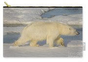 Polar Bear Walking On Ice Carry-all Pouch