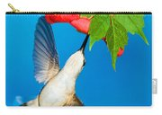 Ruby Throated Hummingbird Female Carry-all Pouch
