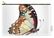 102 Perched White Lady Butterfly Carry-all Pouch by Amy Kirkpatrick
