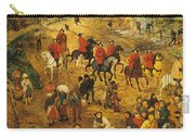 Ascent To Calvary, By Pieter Bruegel Carry-all Pouch