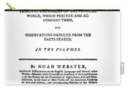 Noah Webster (1758-1843) Carry-all Pouch