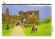 Tourists And The Path At Ruins Of The Urquhart Castle Carry-all Pouch