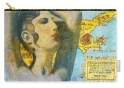 Ancient Cyprus Map And Aphrodite Carry-all Pouch
