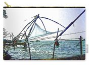 Fishing Nets On The Sea Coast In Alleppey Carry-all Pouch