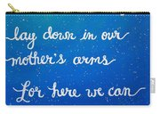 12x16 Dmb So Let Us Sleep Outside Tonight Carry-all Pouch