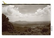 Blue Ridge Mountains - Virginia Sepia 8 Carry-all Pouch