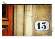 13 With Wooden Door Carry-all Pouch