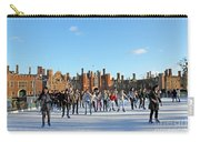 Ice Skating At Hampton Court Palace Ice Rink England Uk Carry-all Pouch