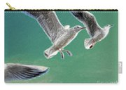10760 Seagulls In Flight #001 Photo Painting Carry-all Pouch