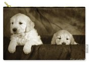 Vintage Festive Puppies Carry-all Pouch by Angel  Tarantella
