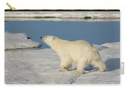 Polar Bear Walking On Ice Carry-all Pouch
