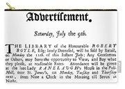 Robert Boyle (1627-1691) Carry-all Pouch