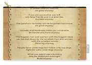 159- The Paradoxical Commandments Carry-all Pouch