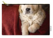 Golden Retriever Puppy Carry-all Pouch by Angel  Tarantella