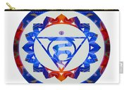 16 Lotus Petals Vishuddha Abstract Chakra Art By Omaste Witkowsk Carry-all Pouch
