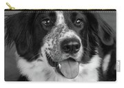 Portrait Of A Border Collie Mix Dog Carry-all Pouch
