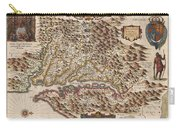 1630 Hondius Map Of Virginia And The Chesapeake Carry-all Pouch by Paul Fearn
