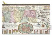 1632 Tirinus Map Of The Holy Land Carry-all Pouch by Paul Fearn
