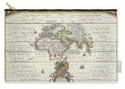1650 Jansson Map Of The Ancient World Carry-all Pouch