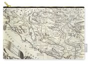 1690 Coronelli Map Of Montenegro Carry-all Pouch