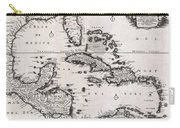 1696 Danckerts Map Of Florida The West Indies And The Caribbean Carry-all Pouch
