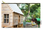A Backyard Chicken Coop In Austin Carry-all Pouch